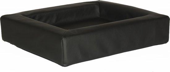 Comfort-Kussen hondenmand leatherlook 100 x 80 x 15 cm - Zwart