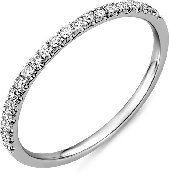 Majestine 9 Karaat Eternity Ring Witgoudkleurig (375) met Diamant 0.23ct maat 56