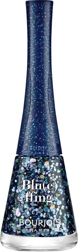 Bourjois 1 Seconde Relaunch Nagellak - 01 Blueffing - Blauw Glitter