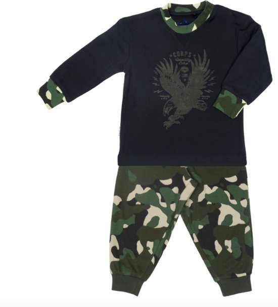 Frogs and Dogs Jongens Pyjama Eagle Camouflage Dusky Green
