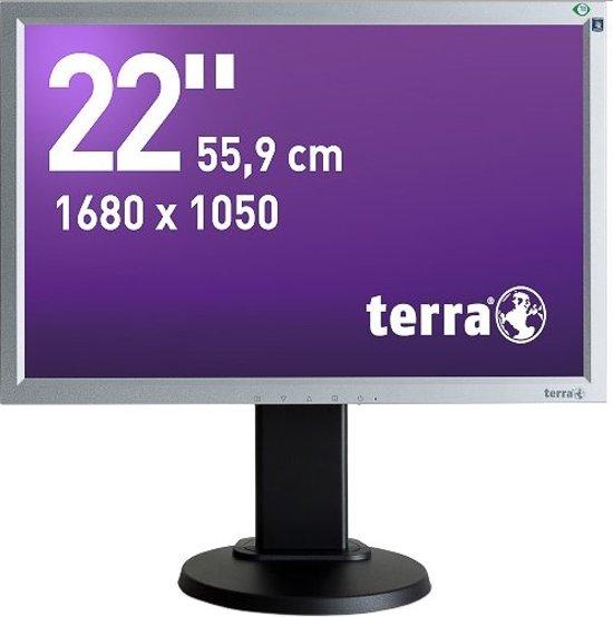 Wortmann AG Terra 2230W, Greenline Plus 22'' LED Zwart, Zilver computer monitor