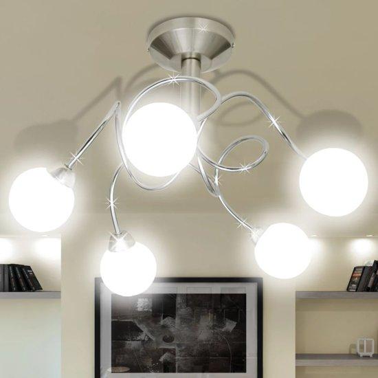 Uitzonderlijk bol.com | Plafondlamp met ronde glazen kapjes (5 x G9) LZ15
