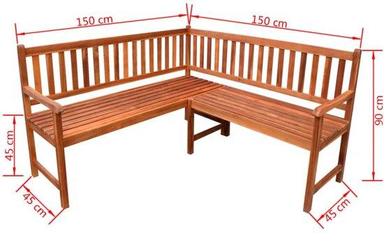 vidaXL Tuinhoekbank 150 cm massief acaciahout