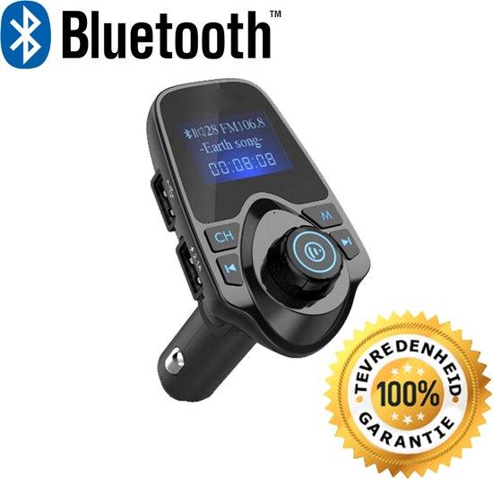 5 in 1 Draadloze Universele Bluetooth Auto MP3 Speler - FM transmitter - LED Display - Handsfree bellen - 2 x High Speed USB Oplader - SD,TF Card Ondersteuning - USB Stick - 3.5mm Jack AUX voor alle smartphones in Kropswolde