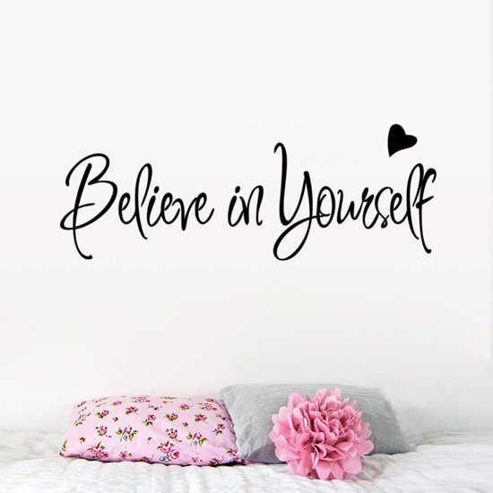 Bolcom Believe In Yourself Muursticker Zwart