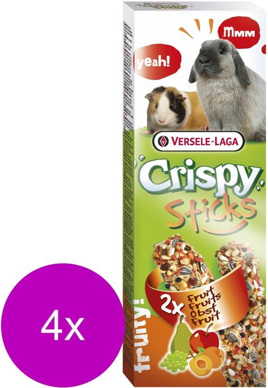 Versele-Laga Crispy Sticks Konijn&Cavia - Konijnensnack - 4 x Fruit