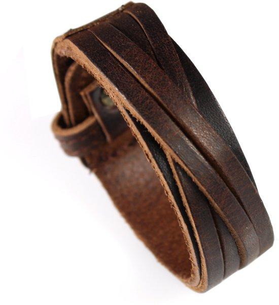 Leren Armband – Bruin - Verstelbaar
