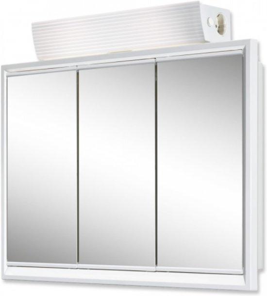 badkamerkast met spiegel 3 deurs wit
