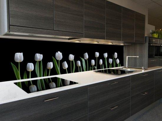 Behang Voor Keuken : Bol keuken spatwand white tulips cm