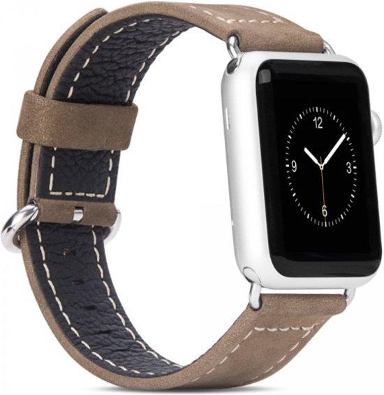Hoco lederen armband voor Apple Watch (42mm) - Brown