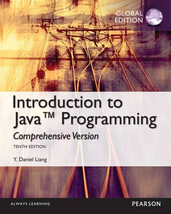 Intro to Java Programming, Comprehensive Version, Global Edition - Y Daniel Liang