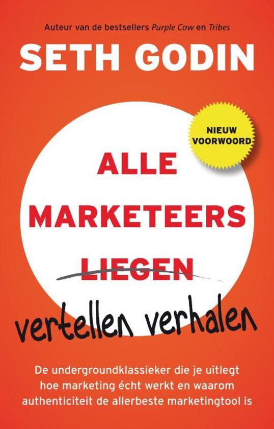 Cover van het boek 'Alle marketeers vertellen verhalen'