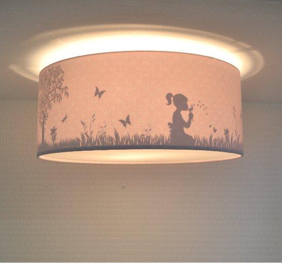 Plafondlamp babykamer Dandelion Girl Roze | meisjes lamp schaduw effect
