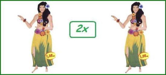 2x Wanddecoratie Hawai girl 135cm