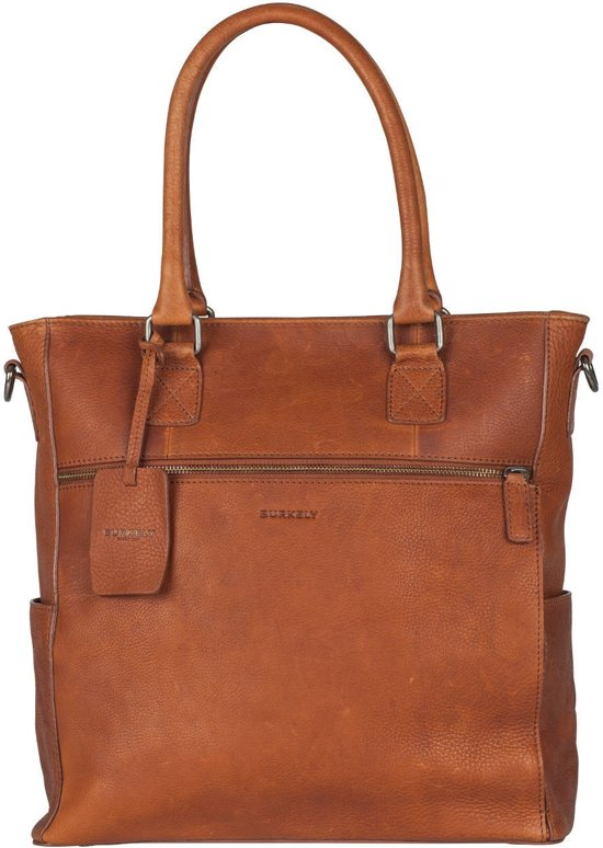 BURKELY ANTIQUE AVERY SHOPPER 13,3'' - Laptoptas - Cognac