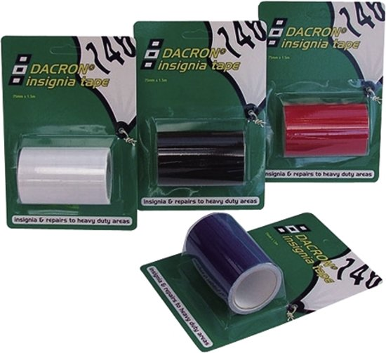 Tape Dacron Insignia Cloth blauw 75mm 1.5mtr