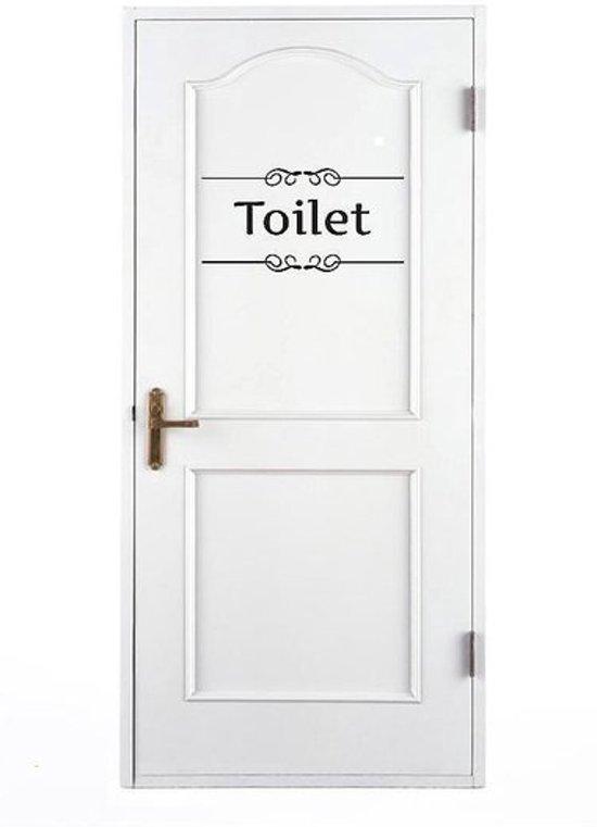 bol.com | Muursticker: Stijlvolle Toiletsticker / WC Sticker ...