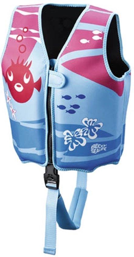 Beco Sealife – Zwemvest kind – Drijfvest voor kinderen van 15-18 kg  – Maat S - Blauw/Roze