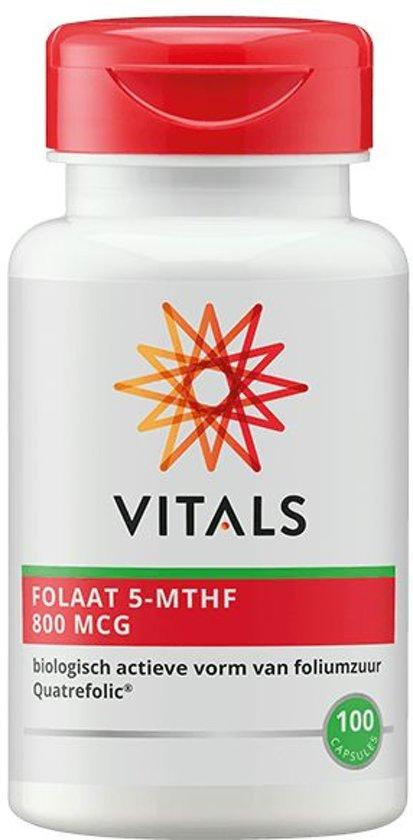 Bolcom Vitals Foliumzuur 5 Mthf 800 Mcg Voedingssupplement 100