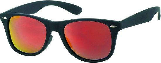 Kost Zonnebril Rubber Wayfarer Uv 400 Zwart/rood