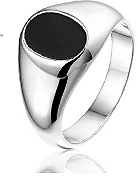 Montebello Ring Paul - Heren - 925 Zilver - Onyx - 11 mm - Maat 60 - 19