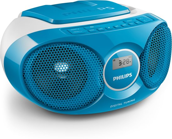Philips AZ215S - Radio/CD-speler - Blauw