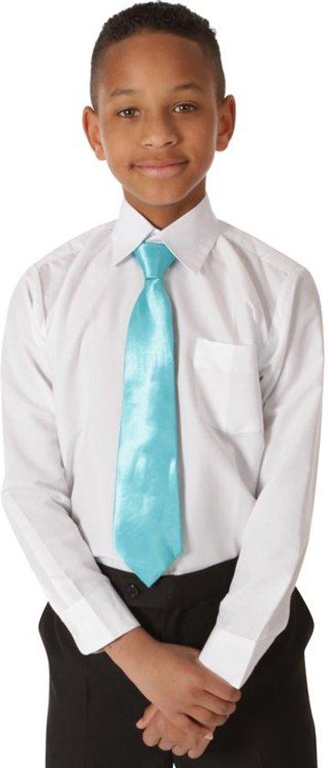 Kinderoverhemd lange mouw wit-116