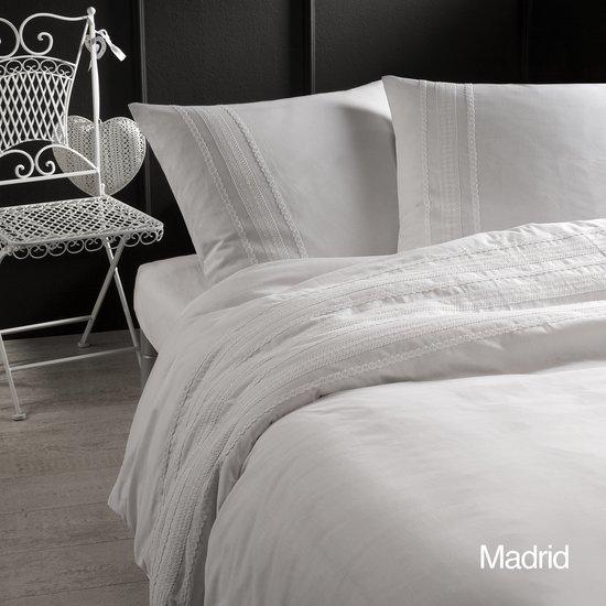Papillon Madrid - dekbedovertrek - lits-jumeaux - 240 x 200/220 - Wit