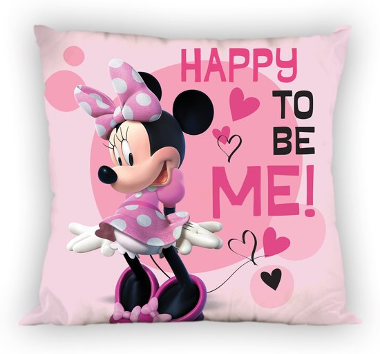 Disney Kussen Minnie Mouse 35 X 35 Cm Roze