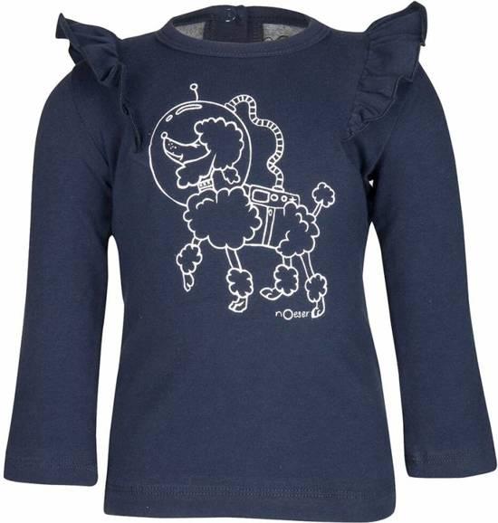 Longsleeve Femke poodle/midnight blue nOeser -  Maat  98