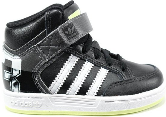 5b38ec1e65d3a3 adidas Originals Varial Mid Baby - Sneakers - Kinderen - Maat 27 - Zwart;Wit