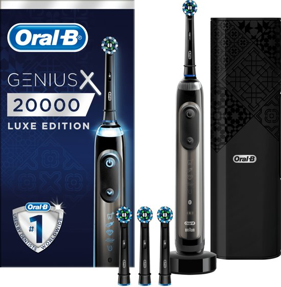 Oral-B Genius X 20000 Luxe Edition Antracietgrijs - Elektrische Tandenborstel