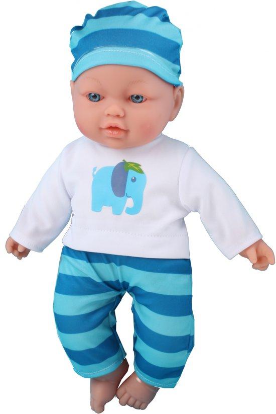 My Little Baby babypop met geluiden 41 cm blauw