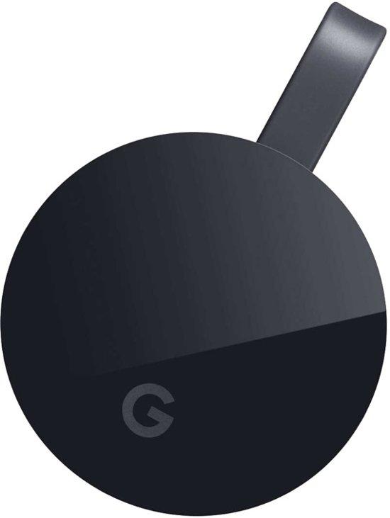 Google Chromecast Ultra Smart TV-dongle 4K Ultra HD HDMI Zwart - Google