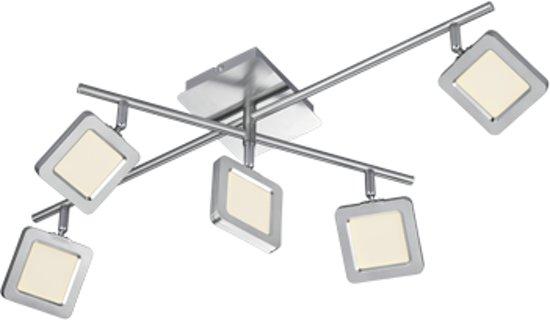 spot vision 5 lichts led met stappendimmer en dtaaiarm