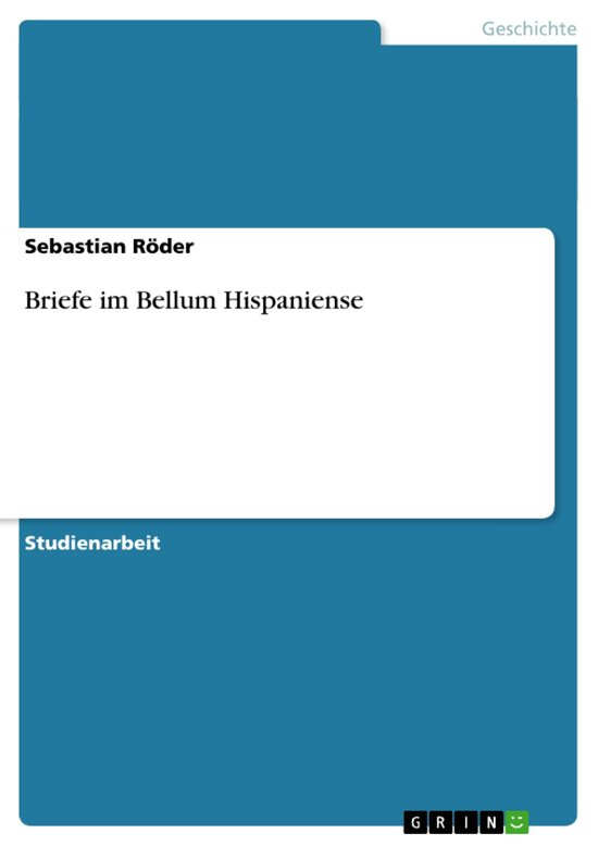 Briefe im Bellum Hispaniense
