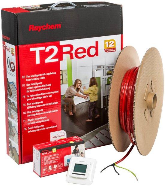 Raychem T2Red vloerverwarming - Installatiepakket 100 meter