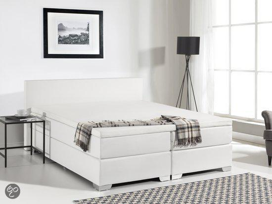 beliani president boxspring wit 180 x 200 cm. Black Bedroom Furniture Sets. Home Design Ideas