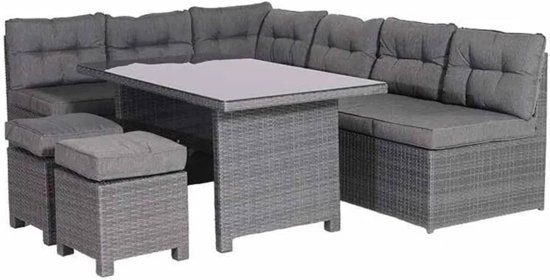 Garden Impressions - Coral - lounge dining set - earl grey
