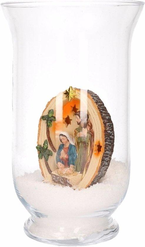 Kerst woondecoratie vaas met heilig beeldje Valentinaa