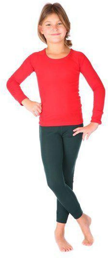 Thermo4sports - thermokleding - thermoset rood - donkergroen maat 128