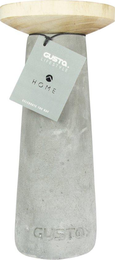 Gusta Kandelaar ø12xH25cm Cement/Hout