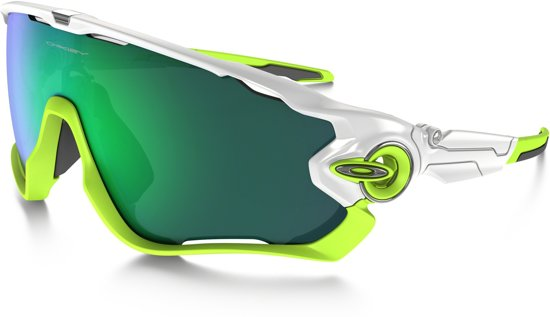 Oakley Jawbreaker - Sportbril - Polished White / Jade Iridium