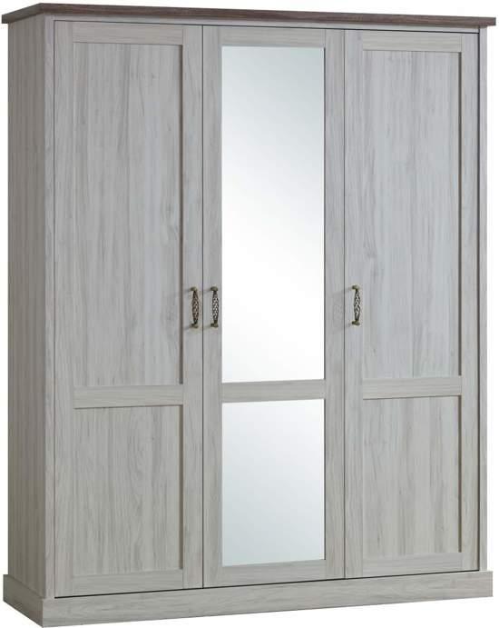 bol | ella 3 deurs kledingkast met spiegel