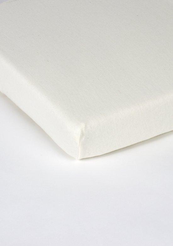 Nightlife Hoeslaken topper 150gr 120x200+15cm - 100% Katoen (stretch) - Crème