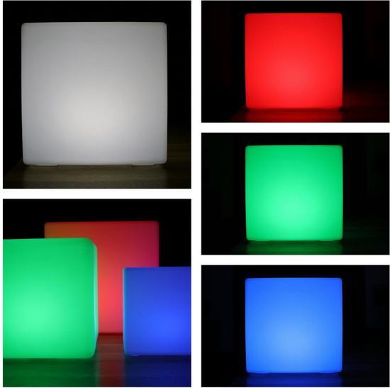 Wonderlijk bol.com   LED Kubus Cube 30 CM RGB Wit 16 kleuren oplaadbaar BV-67