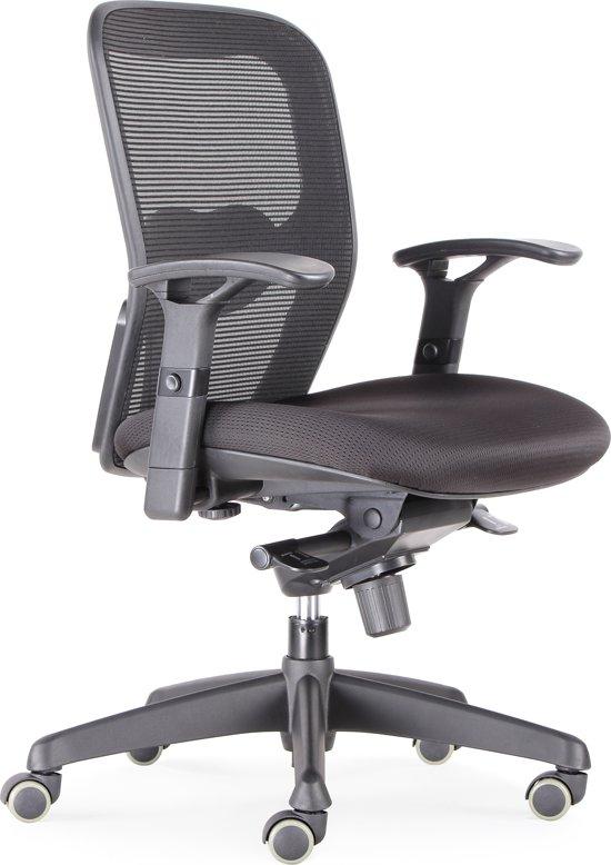 BenS 803 - Ergonomische bureaustoel Robuste bureaustoel met heel veel instel mogelijkheden Zwart