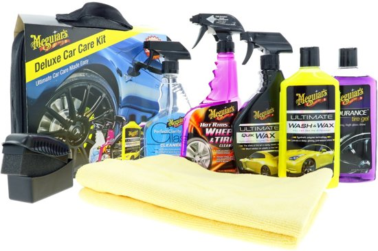 Meguiars DELKIT Deluxe Car Care Kit 9-delig