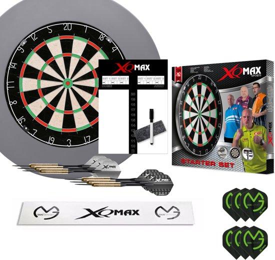 XQ-MAX Michael van Gerwen complete starter set - dartbord - accessoires - surround ring grijs