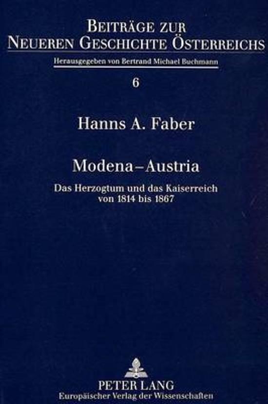 Boek cover Modena - Austria van Hanns A Faber (Paperback)